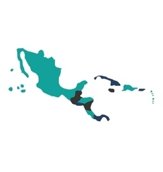 central american map isolated icon vector image