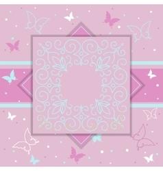 Elegant template luxury invitation gift card vector image vector image