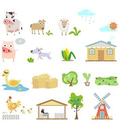 Farm cartoons vector image vector image