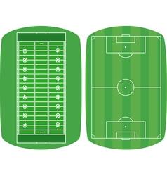 Set sport fields vector