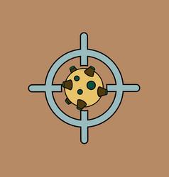Flat icon design collection satellite at gunpoint vector