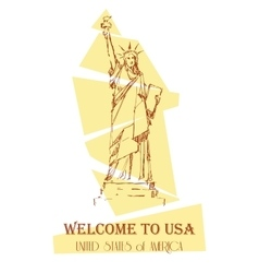 Statue of Liberty design for cards guide vector image