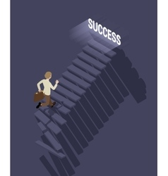 Way to success in business vector image
