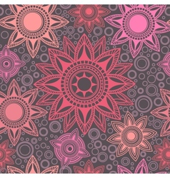 Abstract seamless pattern with round elements vector image vector image