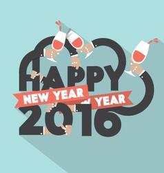 Happy New Year 2016 Typography Design Illus vector image vector image