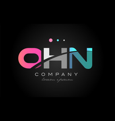 ohn o h n three letter logo icon design vector image vector image