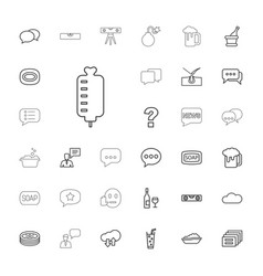 33 bubble icons vector