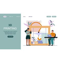 3d printer concept vector