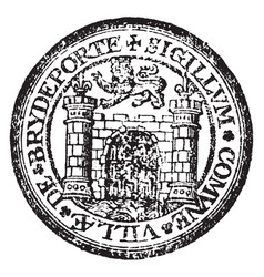 A seal representing the city of bridport england vector