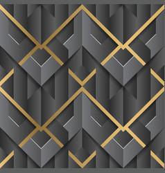 Abstract geometric decor stripes art deco black vector