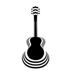 Acoustic guitar cutout vector