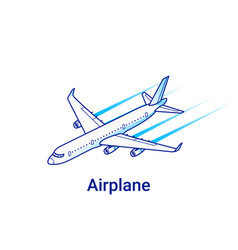 airplane isometric linear vector image