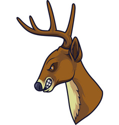 angry deer head mascot vector image