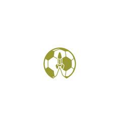 ball football rocket logo designs inspiration vector image