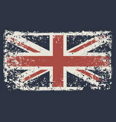 banner with flag uk in grunge style vector image