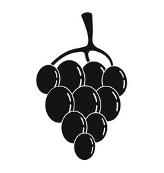 Berry grape icon simple style vector