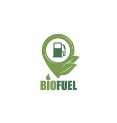 bio fuel station icon vector image