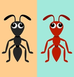 Black and red ants vector