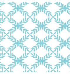Blue argyle leaves seamless pattern background vector image