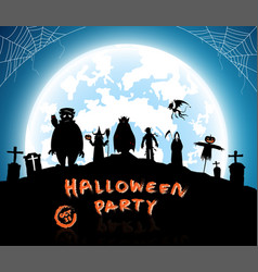 Blue backgroundfestival halloween vector