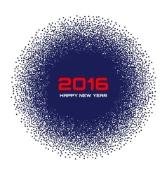 Blue New Year 2016 Background vector