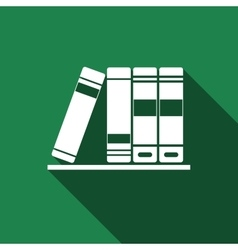 Books icons icon with long shadow vector