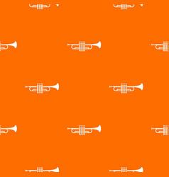 brass trumpet pattern seamless vector image