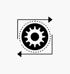 business gear management operation process glyph vector image