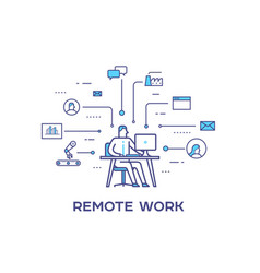 business person working on computer business vector image