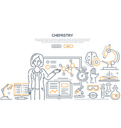 chemistry lesson - colorful line design style vector image