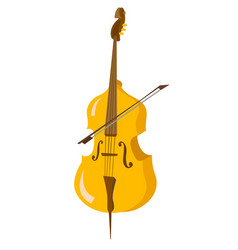 Classic cello with bow cartoon vector