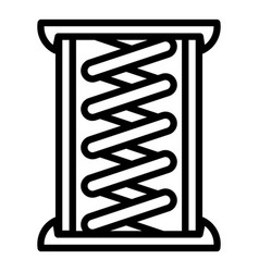 Copper coil icon outline style vector