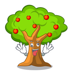 Crazy apple tree in agriculture the cartoon vector