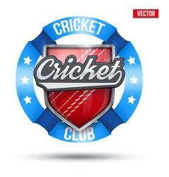cricket sport label sign vector image