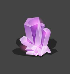 Crystalline stone or gem and precious gemstone for vector