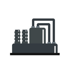 equipment for production oil icon flat style vector image