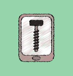 Flat icon design collection screw sign in vector
