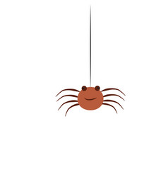 flat style of spider icon for vector image