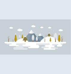 forest landscape in winter vector image