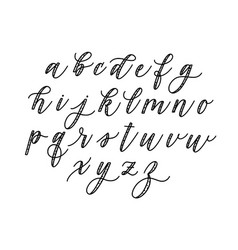 fun doodle calligraphy alphabet type lowercase abc vector image
