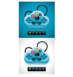 Gamers cloud computing xxl icon vector