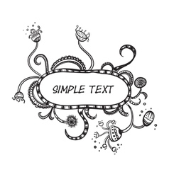 Hand Drawn Doodle Border Frame vector