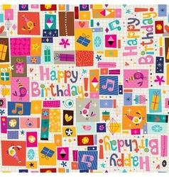 Happy Birthday pattern vector