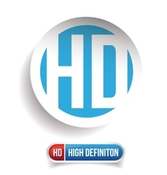 HD button - High Definition set vector image