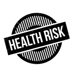Health risk rubber stamp vector