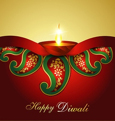 Indian Diwali background vector