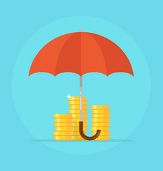 insurance deposit concept vector image