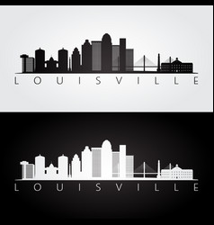 Louisville usa skyline and landmarks silhouette vector