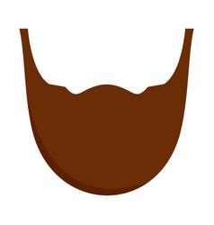 Man beard icon flat style vector