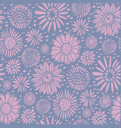 meadow ditzy spring flowers repeat pattern vector image
